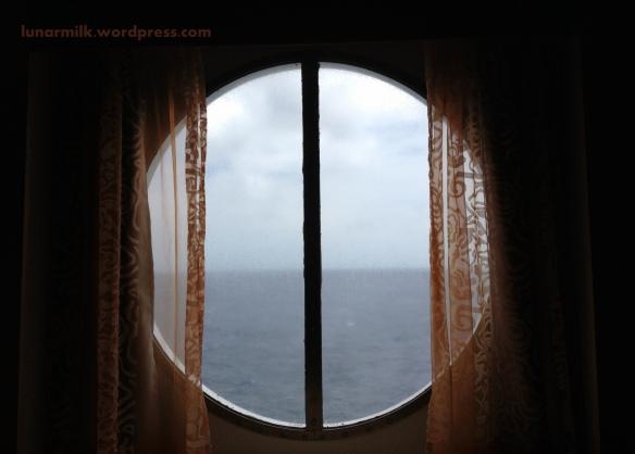 cruise window at sea